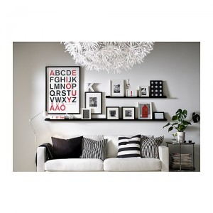 I love the clean black and white look in this image with the pops of red. Even simple Ikea frames and shelves can look so put together!  sc 1 st  Confessions of a Prop Junkie & Wall Art Inspiration » Confessions of a Prop Junkie