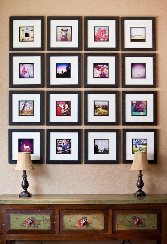 Wall Art Photography wall art inspiration: instagram photo displays » confessions of a